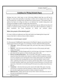 Scholarly Essay Examples Guidelines For Writing Scholarly Paper By Sohail Ahmed