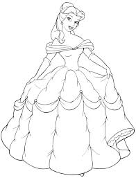 printable for free princess belle coloring pages and image drawing