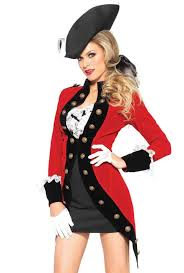 Army Costumes Halloween Leg Avenue Red Coat British Army Dress Costume