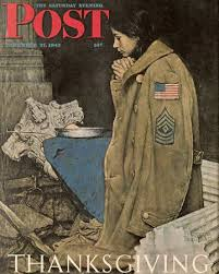 norman rockwell thanksgiving praying saturday evening post