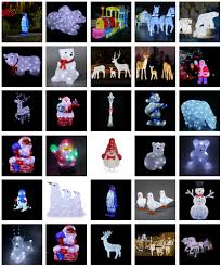 Outdoor Christmas Decorations Penguins by Outdoor Christmas Lights Acrylic Figures Penguin For Christmas