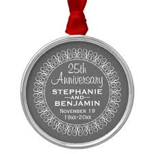 25th wedding anniversary christmas ornament 25th wedding anniversary personalized metal ornament popular