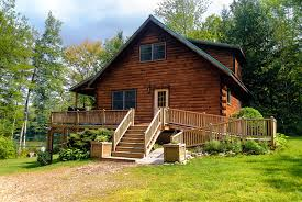 summer c cabins maine log cabin on lake 3 bed2 bath hot tub privacy peace