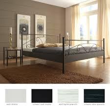 Schlafzimmer Mit Metallbett Metallbett Lydia Nachttisch Farbe Und Größe Nach Wahl Doppelbett