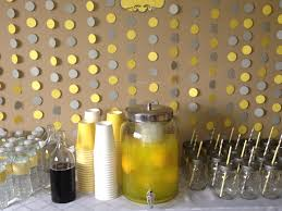 yellow and gray baby shower grey and yellow baby shower drinks table only use our color