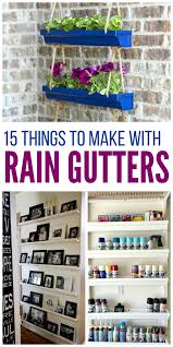 15 creative rain gutter ideas for organization u0026 storage