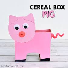 cereal box pig craft kids pig crafts box craft