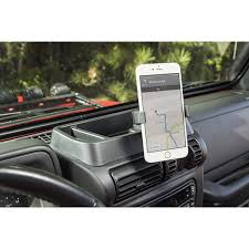 jeep wrangler yj dashboard rugged ridge 13551 19 dash multi mount with phone holder 97 06