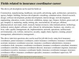 insurance coordinator cover letter
