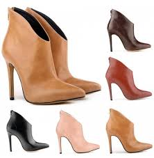 womens ankle boots sale femme womens pointed toe faux leather high stiletto heel platform