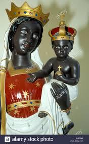 virgin mary baby jesus statue catholic madonna stock photos