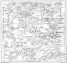 Map East Africa by German East Africa U2013 Under Every Leaf