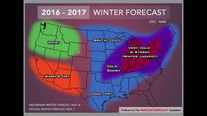 Usa Weather Map by 2016 2017 Winter Forecast Address Youtube