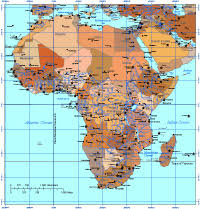 africa map color editable africa map with countries and capitals safari color