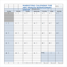 marketing calendar template 3 free excel documents download