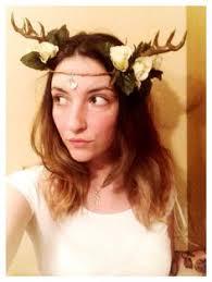 Deer Antlers Halloween Costume Forest Wedding Mori Deer Antler Flower Headband Thou Art