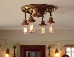brushed brass light fixtures antique brass pan light fixture vintporium s sold antiquities