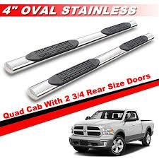 dodge ram crew cab bed size mifeier 4 oval s s nerf bars side for 09 16 dodge ram 1500
