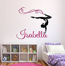 Amazoncom  Custom Gymnastics Name Wall Decals Girls Kids Room - Kids rooms decals