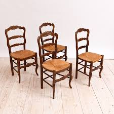 Antique Dining Sets Set Of Four French Antique Dining Chairs With Rush Seats Bonnin