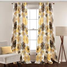 Yellow Drapery Buy 84 Inch Curtain Grommet Panels From Bed Bath U0026 Beyond