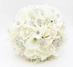 silk bridal bouquets brooch bridal bouquet silk wedding white navy bouquet boutonniere