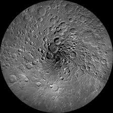 does the top of the moon look like