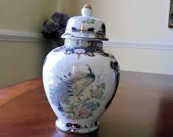 Toyo Vase Cobalt Peacock Vase Etsy