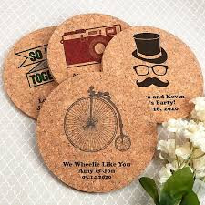 wedding coaster favors drink coasters cork custom printed wedding bar coasters