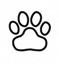 tiger paw print applique design 10169 5 00 zoeys designs
