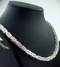 silver necklace chain lengths images 925 sterling silver men 39 s chain byzantine king 39 s chain length 60 jpg