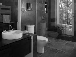 Dark Purple Bathroom Accessories by Large Glass Shower Stalls And Beige Tile Wall Connected By Black