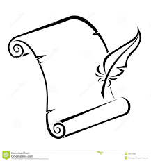 scroll and quill clipart clipartsgram com