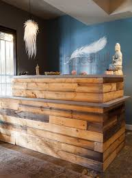 Reclaimed Wood Reception Desk The Reclaimed Wood Reception Area Designed By Rosa Beltran Design