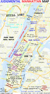 manhattan on map judgmental maps manhattan new york ny by joe larson copr 2013