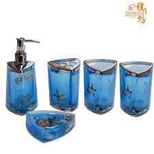 Handmade Bathroom Accessories by Bathroom Accessory Sets Blue Best Bathroom Decoration