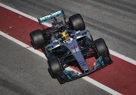 mercedes barcelona f1 lewis hamilton calls 2017 mercedes car a beast after topping