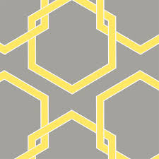 honeycomb industrial loft grey yellow white removable wallpaper