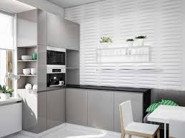 comfy kitchen with black white grey color scheme black white