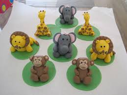 safari cake toppers safari animals cupcake toppers made from gumpaste modellin flickr