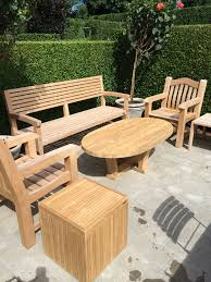 oval teak coffee table mecox gardens