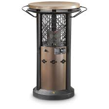 Patio Table Heaters Patio Table With Built In Heater Outdoor Leisure Bistro Table