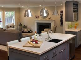 kitchen island with hob and sink