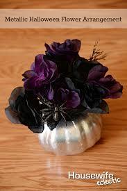 metallic halloween flower arrangement housewife eclectic