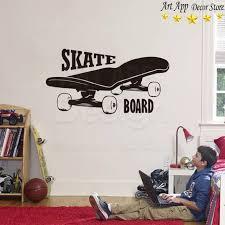 sport en chambre x bonne qualité nouveau design skate board wall sticker amovible