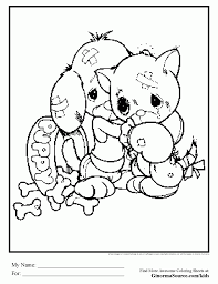 coloring pages puppy and kitty coloring pages mycoloring free