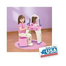 Little Girls Play Vanity Little Girls Play Vanity Table Set Kids Toddler Believe Birthday