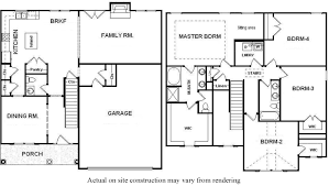 2 story home plans with open concept kitchen dining room and