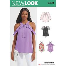 blouse sewing patterns misses blouses with sleeve variations look sewing pattern 6490
