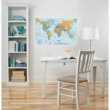 wallpops 24 in x 36 in dry erase world map wall decal wpe99074